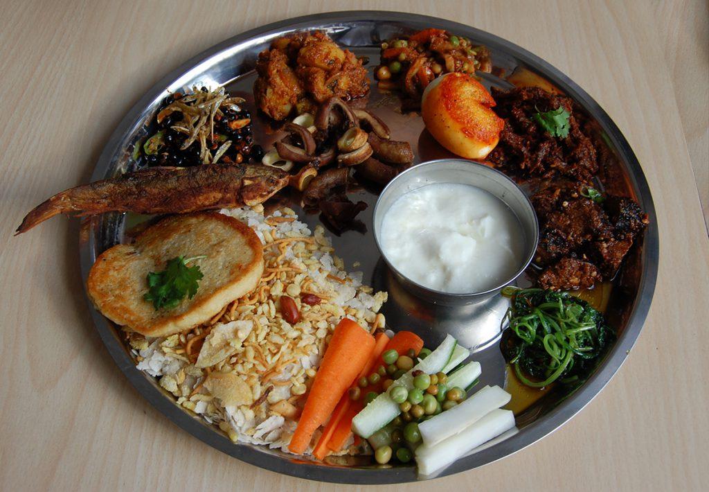 BEST Newari Food in Kathmandu Samay Baji Newari Food