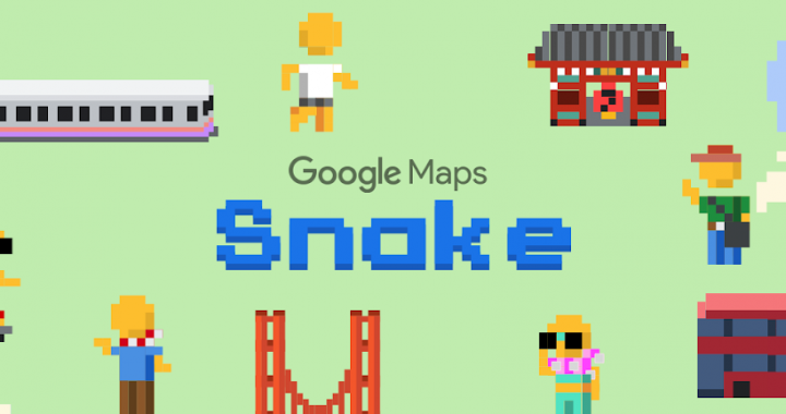 Google Maps add Snake game for April Fools' Day