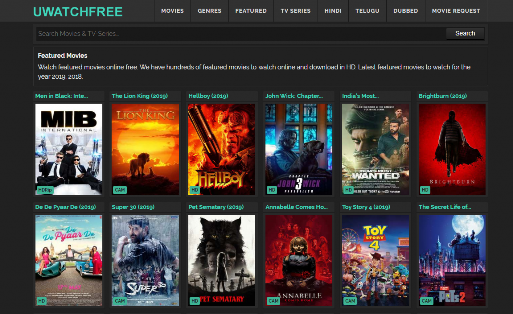 free online movie sites