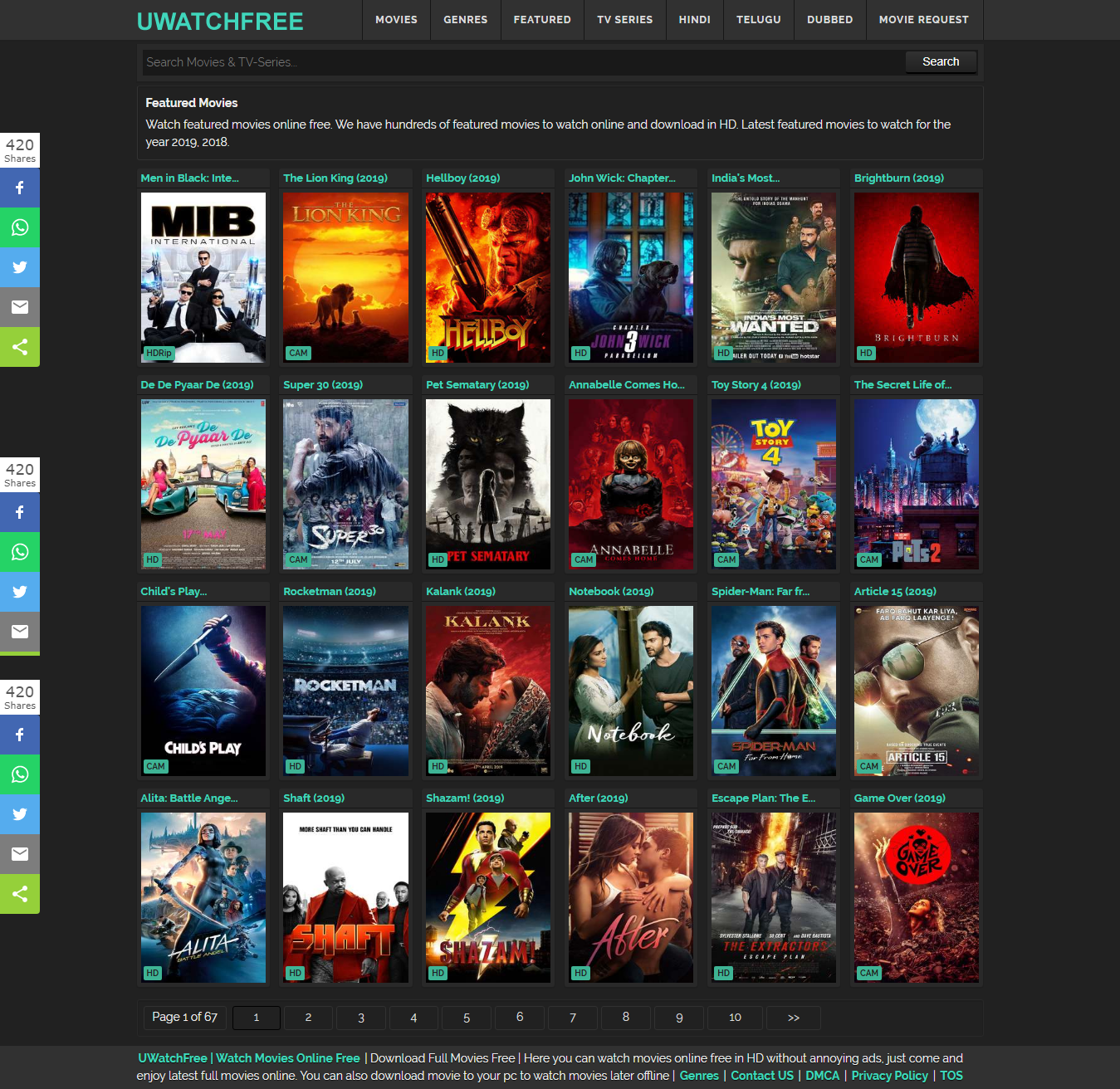 free online movie sites