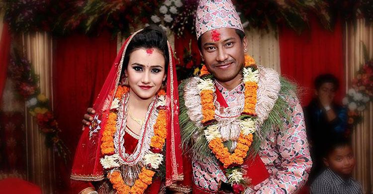 swastima khadka wedding photo