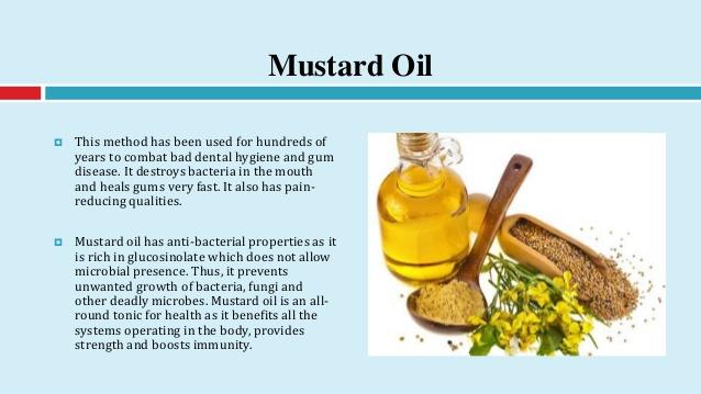Mustard oil for gum disease