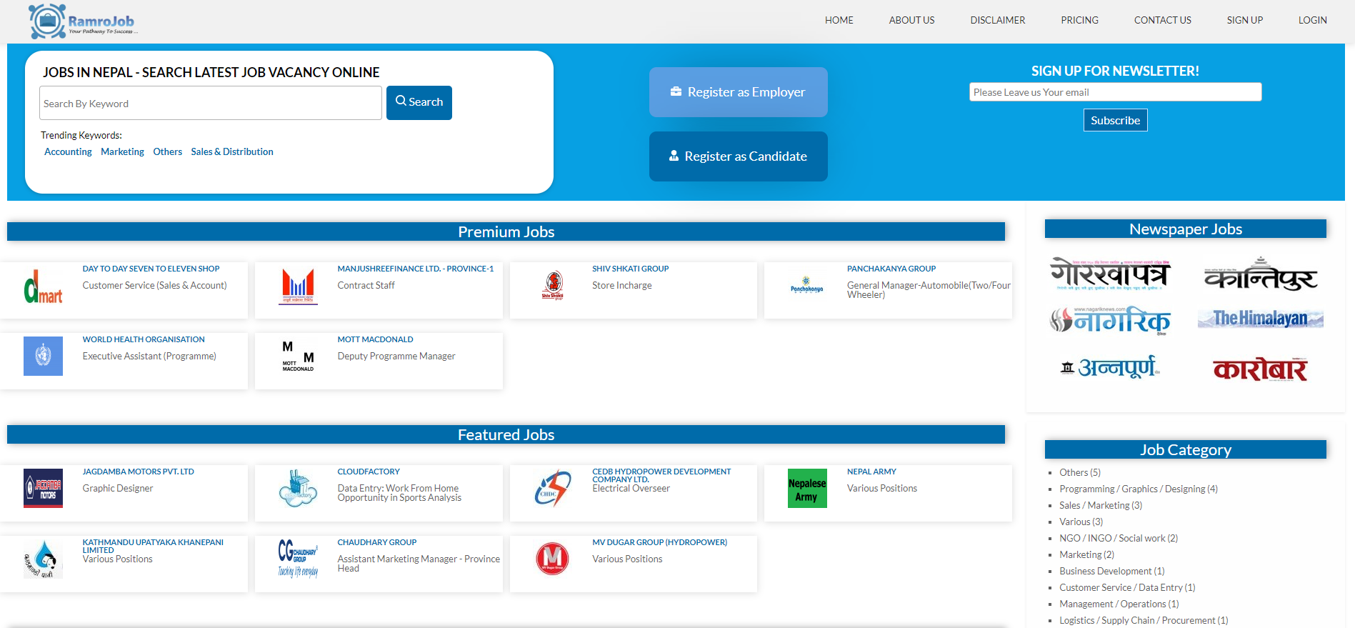 Job Sites in Nepal