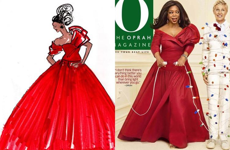 Oprah winfrey Prabal gurung dress