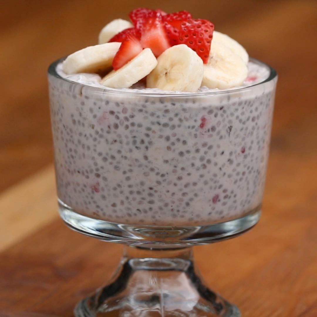 chia seed with pudding