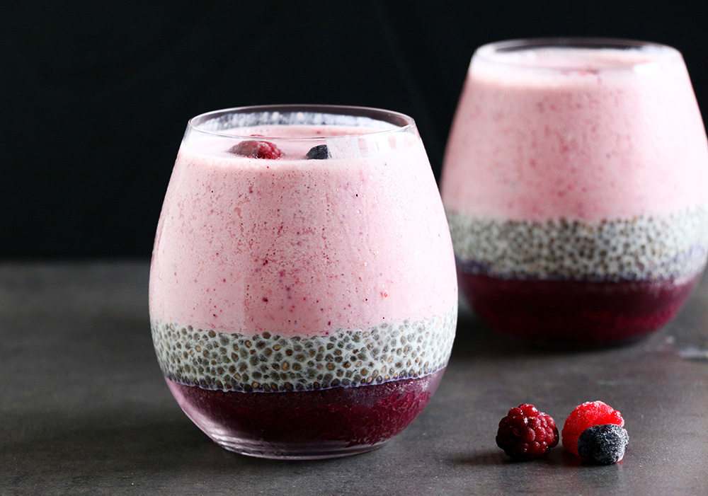 chia seed with smoothie