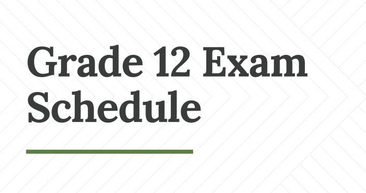 Grade 12 Examination Schedule Published 2078