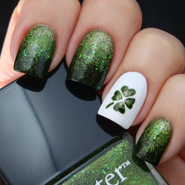 green nail art ideas