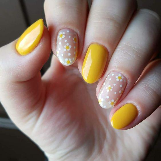 yellow nail art ideas